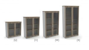 Bookcase Glass Doors